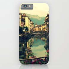 Moody Canal in Annecy, France iPhone 6 Slim Case