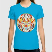 Everything is Fine Womens Fitted Tee Teal SMALL