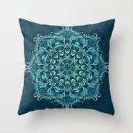Throw Pillow featuring Frozen Mandala by Julia Badeeva