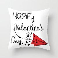 Happy Valentine's Day Throw Pillow