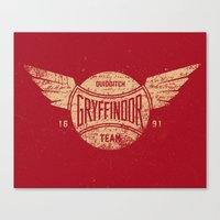 Vintage Gryffindor Quidditch Team Canvas Print