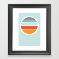 Sunrise Sunset Framed Art Print