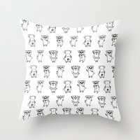 The Dancing Pugs Throw Pillow