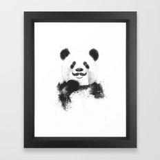 Funny panda Framed Art Print