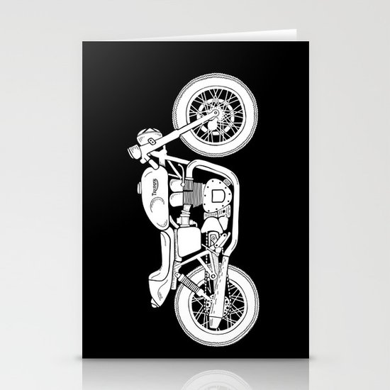 Triumph Bonneville - Cafe Racer series #3 Stationery Card