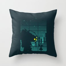 Come on, Mr. Bubbles! Throw Pillow