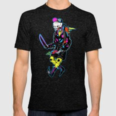 Skeltal Space Man Mens Fitted Tee Tri-Black SMALL