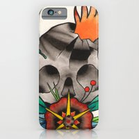 iPhone & iPod Case featuring Skull of Unnamed Fear by Paul Ulrich