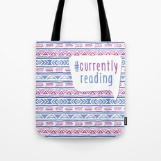 #CurrentlyReading Triabal print Tote Bag