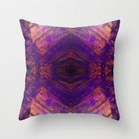 Purple and Orange Stripes Throw Pillow