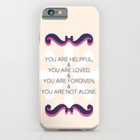 iPhone & iPod Case featuring Helpful, loved, forgiven, not alone by Sarah Turbin