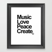 MLPC White Framed Art Print