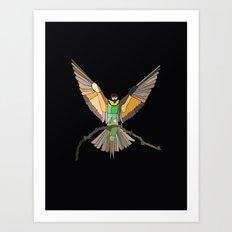 Bird Ripple  Art Print