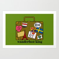 Wanderlust King Art Print