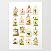 Bird Cages Art Print