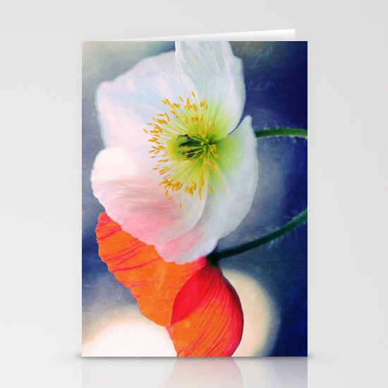 Evening Poppies Stationery Card