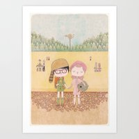 moonrise kingdom Art Prints featuring moonrise kingdom by yohan sacre