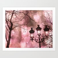 Paris Holiday Sparkling … Art Print