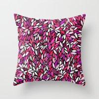 Pink Almond Throw Pillow