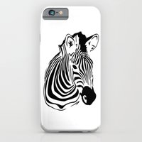 iPhone & iPod Case featuring Zebra by Fiona Bewsey