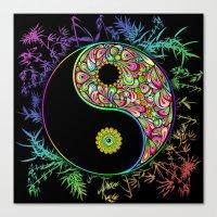 Yin Yang Bamboo Psychedelic Canvas Print