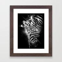 Zebra Mood - White Framed Art Print