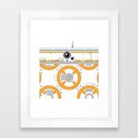 Minimal BB8 Droid Framed Art Print