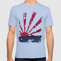 Imperial Japanese Navy Mens Fitted Tee Athletic Blue SMALL