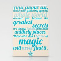 Roald Dahl / Typography Quote Stationery Cards