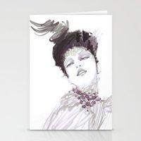 Purple Dramatic Fashion … Stationery Cards