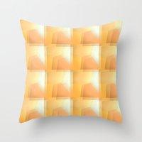 Sunshine Ripples Throw Pillow
