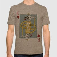 King of Hearts Mens Fitted Tee Tri-Coffee SMALL