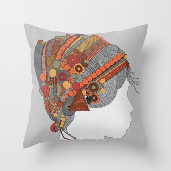 A TRIBE CALLED WOMEN - COLOR EDITION Throw Pillow