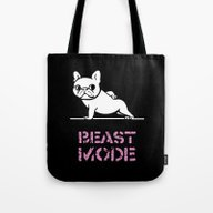 Beast Mode Frenchie Tote Bag