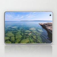 Serenity Swim in Lake Superior Laptop & iPad Skin