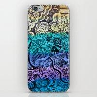 Watercolor Doodle iPhone & iPod Skin