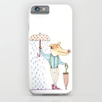 iPhone & iPod Case featuring Umbrella man by OneEyed