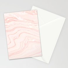 Blush Marble Stationery Cards