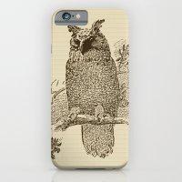iPhone & iPod Case featuring Vintage Owl by Elena Indolfi