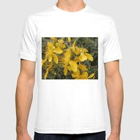 Beautiful St Johns Wort Mens Fitted Tee White SMALL