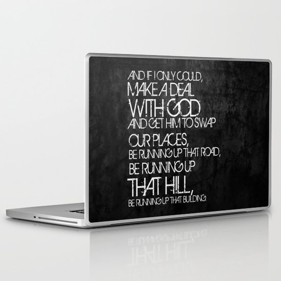 Running Up That Hill Laptop & iPad Skin