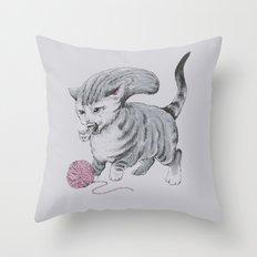 Kittehmorph Throw Pillow