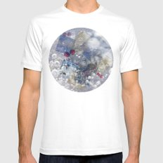 Water Bubble Mens Fitted Tee White SMALL