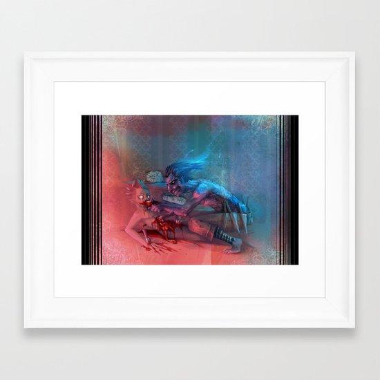Suck it! Framed Art Print
