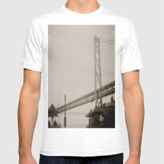 Coffee by the Bridge Mens Fitted Tee White SMALL