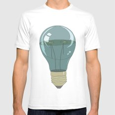 Life in a lightbulb. Night White Mens Fitted Tee SMALL