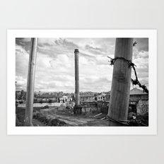 Three poles Art Print