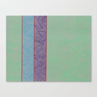 3 Red Lines  Canvas Print