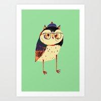 Owl Cutey. Art Print