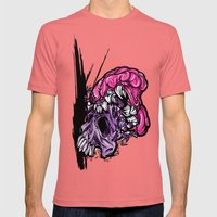 Skull CRUNCH ! Mens Fitted Tee Pomegranate SMALL